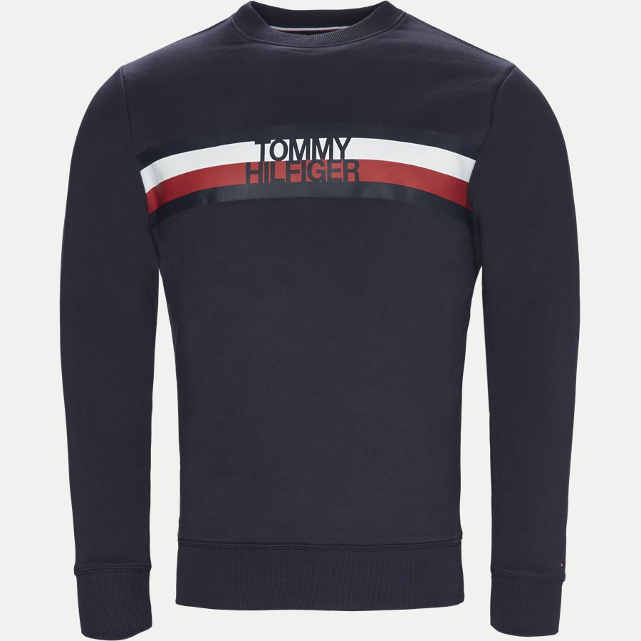 TOMMY LOGO SWEAT - Logo Sweatshirt - Sweatshirts - Regular - NAVY - 1