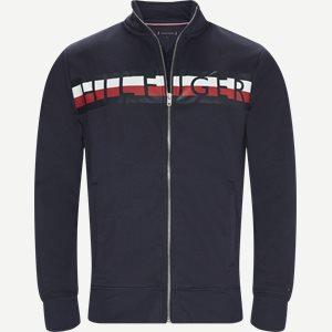 Zip Through Sweatshirt Regular | Zip Through Sweatshirt | Blå