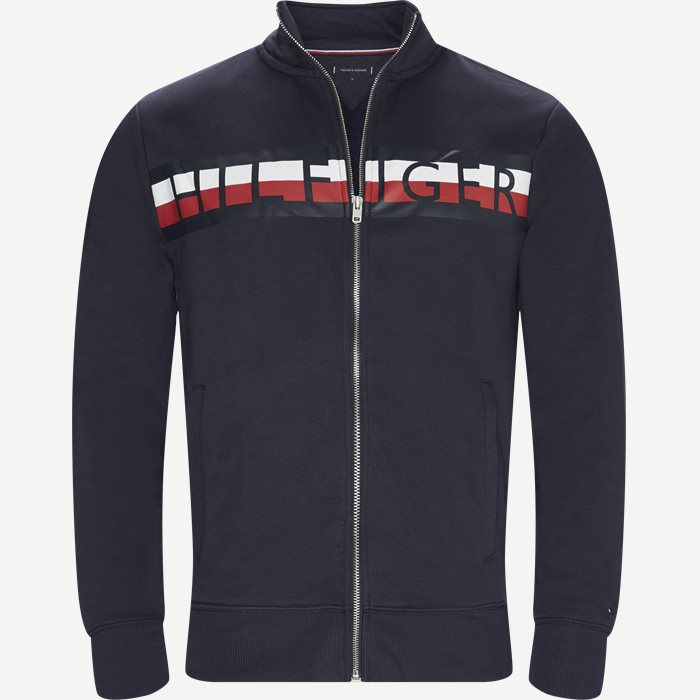 Zip Through Sweatshirt - Sweatshirts - Regular - Blå