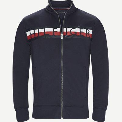 Zip Through Sweatshirt Regular   Zip Through Sweatshirt   Blå