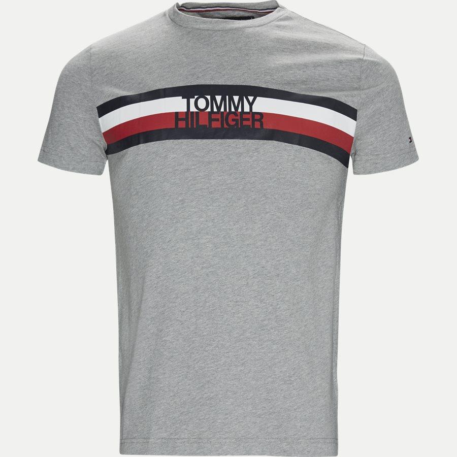 TOMMY LOGO TEE - Logo Tee - T-shirts - Regular - GRÅ - 1
