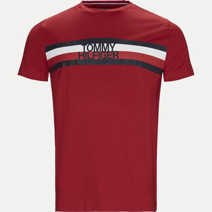 TOMMY LOGO TEE - Logo Tee - T-shirts - Regular - RØD - 1