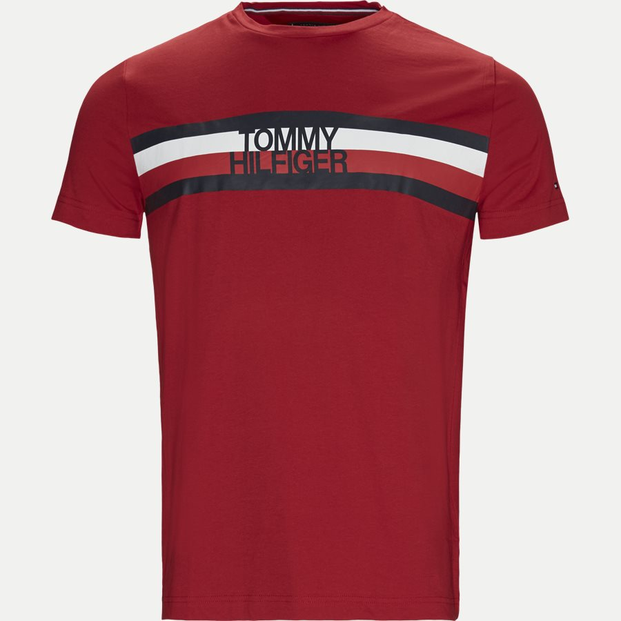 TOMMY LOGO TEE - T-shirts - Regular - RØD - 1