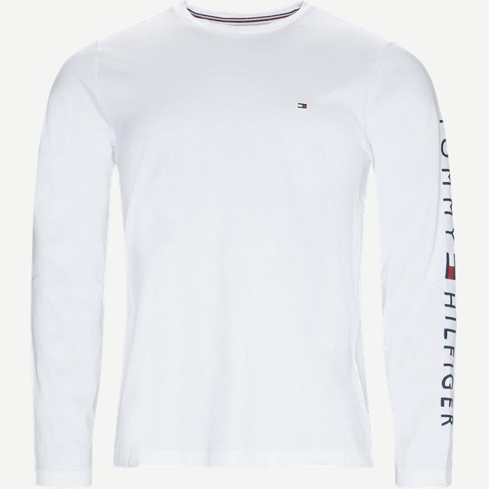 Logo Long Sleeve Tee - T-shirts - Regular - Hvid