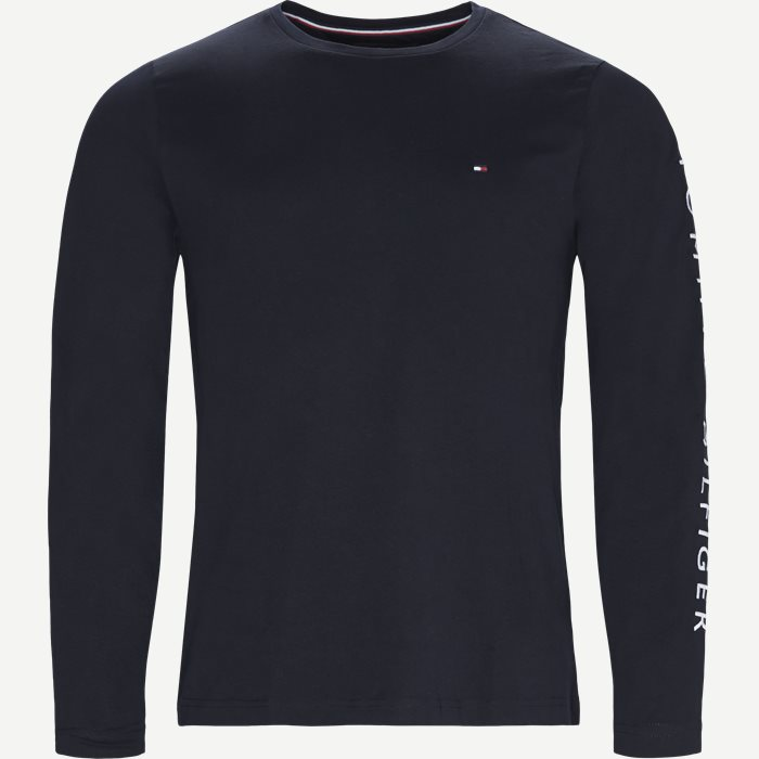 Logo Long Sleeve Tee - T-shirts - Regular - Blå