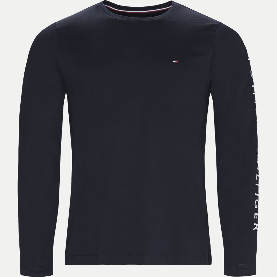 TOMMY LOGO LS TEE - Logo Long Sleeve Tee - T-shirts - Regular - NAVY - 1