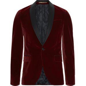Velvet Rc Smoking Jacket Slim | Velvet Rc Smoking Jacket | Rød
