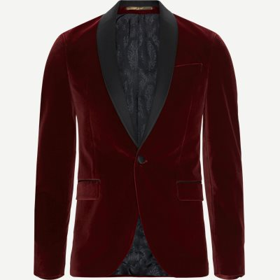 Velvet RC Smoking Jacket Slim | Velvet RC Smoking Jacket | Rød