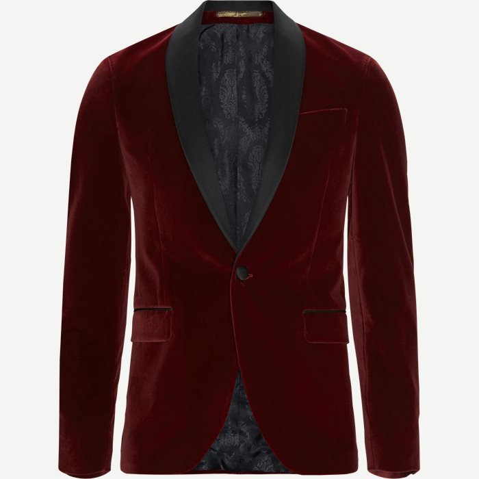 Velvet RC Smoking Jacket - Blazer - Slim - Rød