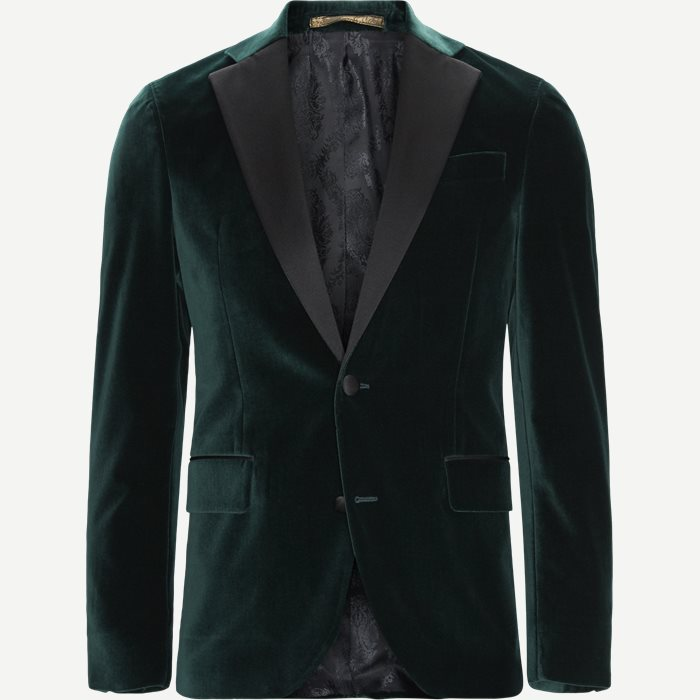 Velvet Rc Smoking Jacket - Blazer - Slim - Grøn