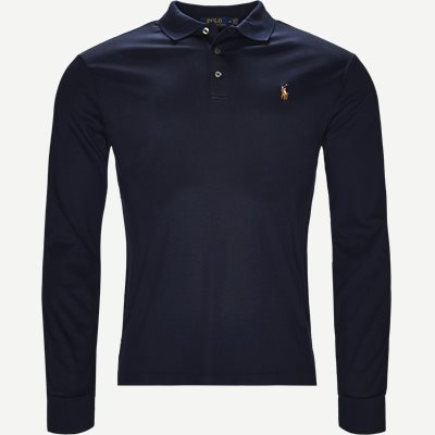 Long Sleeve Polo T-shirt Slim | Long Sleeve Polo T-shirt | Blå