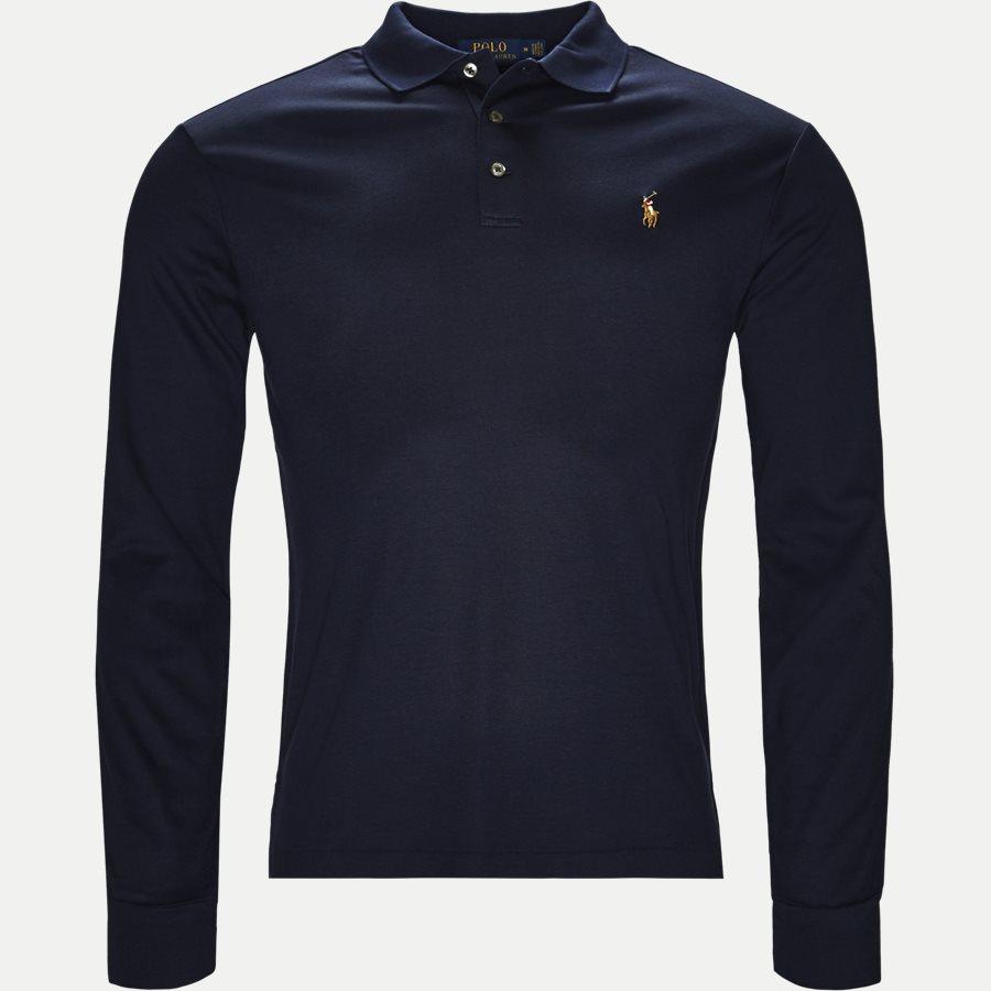 710743841 - Long Sleeve Polo T-shirt - T-shirts - Slim - NAVY - 1