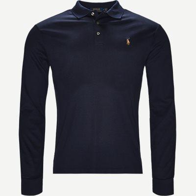 Long Sleeve Polo T-shirt Slim | Long Sleeve Polo T-shirt | Blå