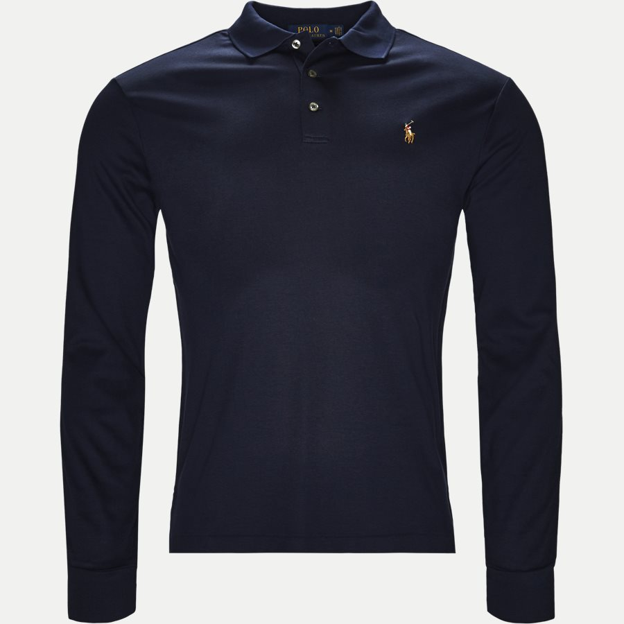 710743841 - Long Sleeve Polo T-shirt - T-shirts - Slim - NAVY - 1