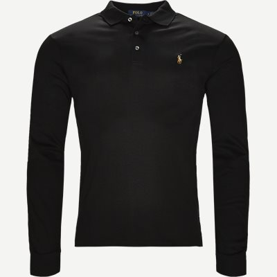 Long Sleeve Polo T-shirt Slim | Long Sleeve Polo T-shirt | Sort