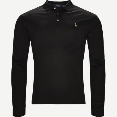 Long Sleeve Polo T-shirt Slim | Long Sleeve Polo T-shirt | Sort