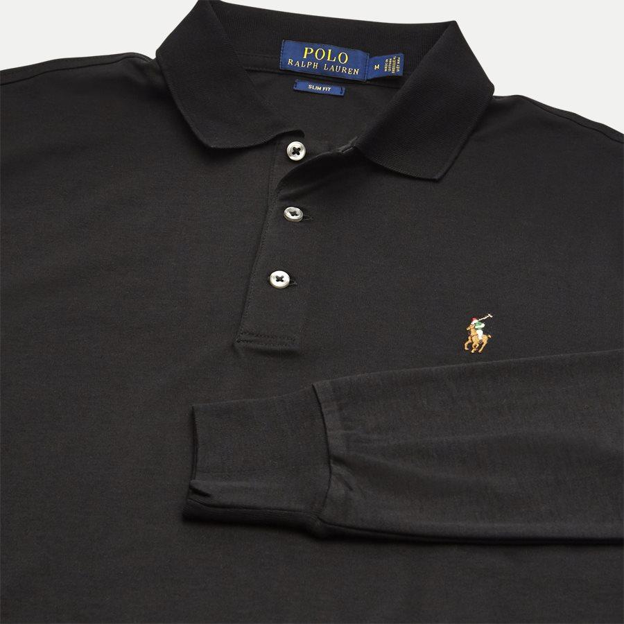 710743841 - Long Sleeve Polo T-shirt - T-shirts - Slim - SORT - 3