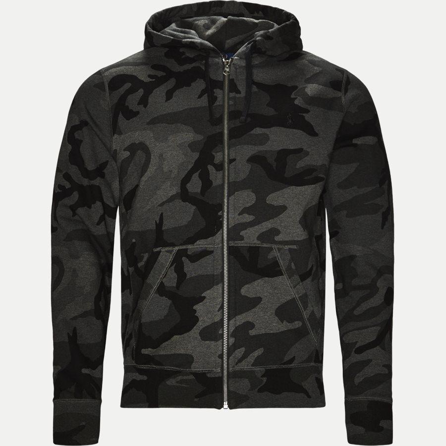 710720844 - Camo Hoodie Sweat - Sweatshirts - Regular - SORT - 1