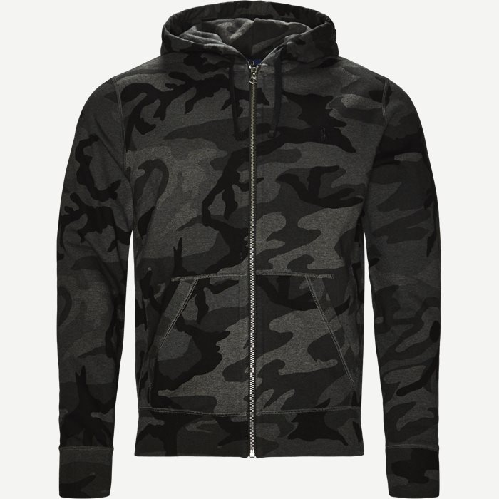 Camo Hoodie Sweat - Sweatshirts - Regular - Sort