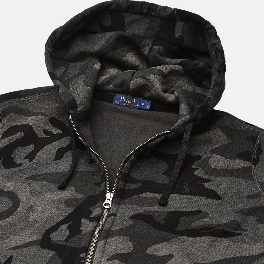 710720844 - Camo Hoodie Sweat - Sweatshirts - Regular - SORT - 3