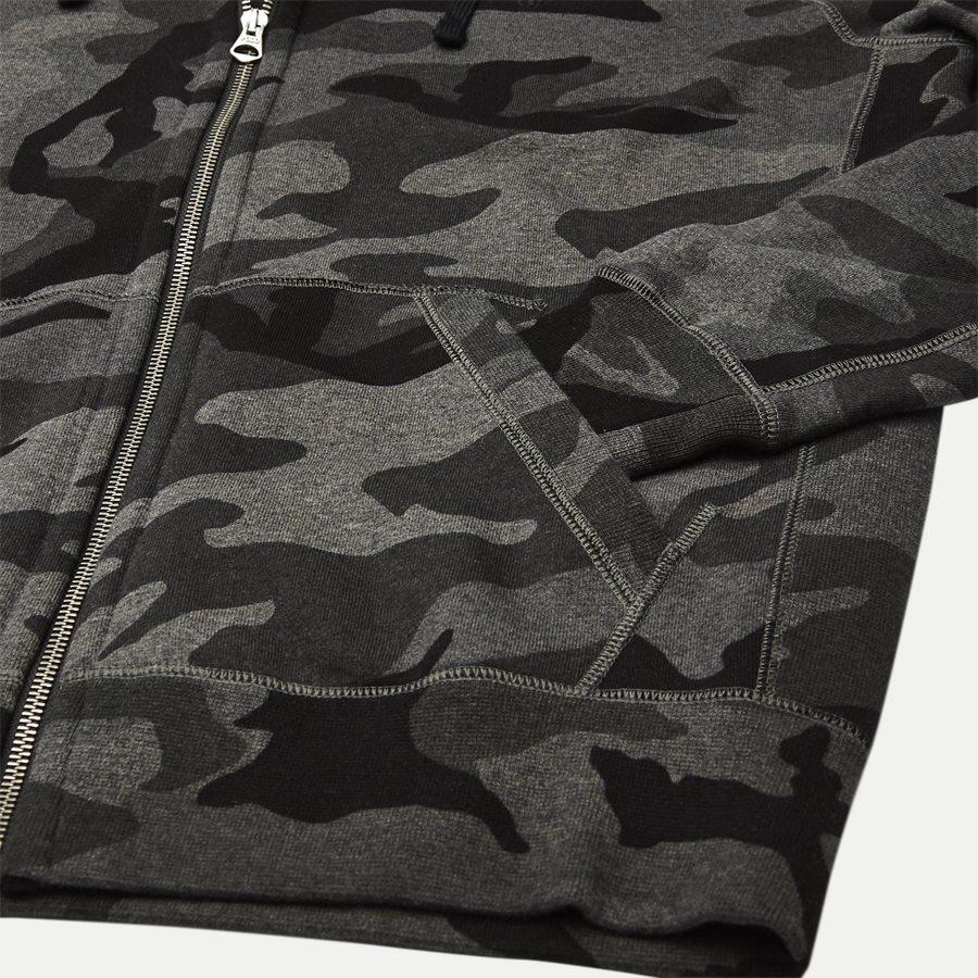 710720844 - Camo Hoodie Sweat - Sweatshirts - Regular - SORT - 4