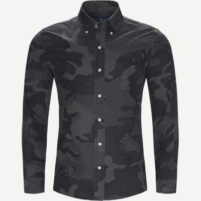 Oxford Camo Shirt Slim | Oxford Camo Shirt | Sort