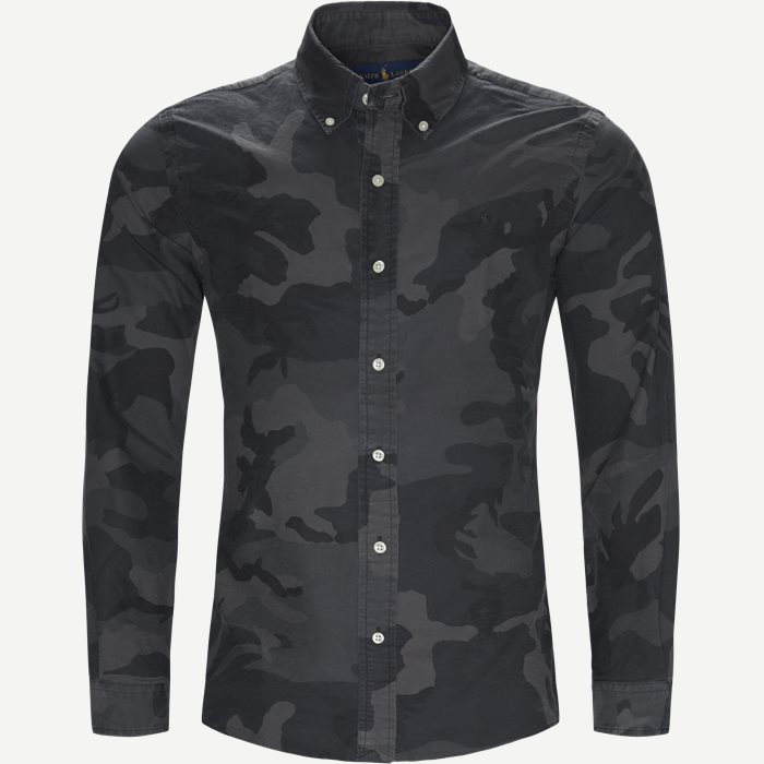 Oxford Camo Shirt - Skjorter - Slim - Sort