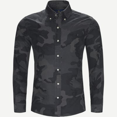 Oxford Camo Shirt Slim | Oxford Camo Shirt | Sort