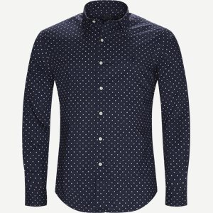 Phillip Dot Shirt Slim | Phillip Dot Shirt | Blå