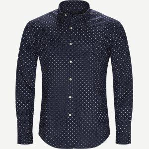 Phillip Dot Shirt Slim   Phillip Dot Shirt   Blå