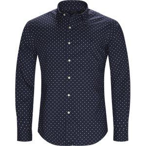 Phillip Dot Shirt Slim | Phillip Dot Shirt | Blå