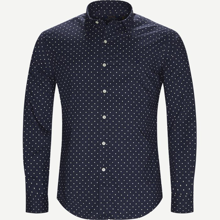 Phillip Dot Shirt - Skjorter - Slim - Blå