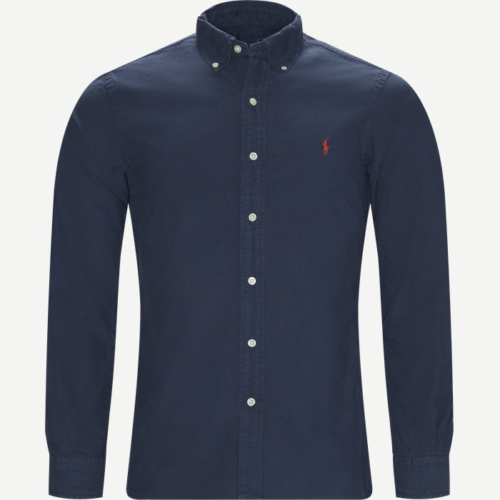 Button-down Oxford Skjorte - Skjorter - Slim - Blå