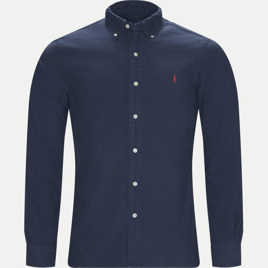 710723610 - Button-down Oxford Skjorte - Skjorter - Slim - NAVY - 1