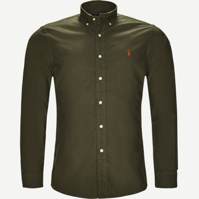 Oxford Button-down Skjorte Slim | Oxford Button-down Skjorte | Army