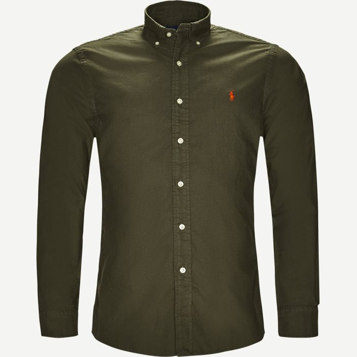 Oxford Button-down Skjorte - Skjorter - Slim - Army