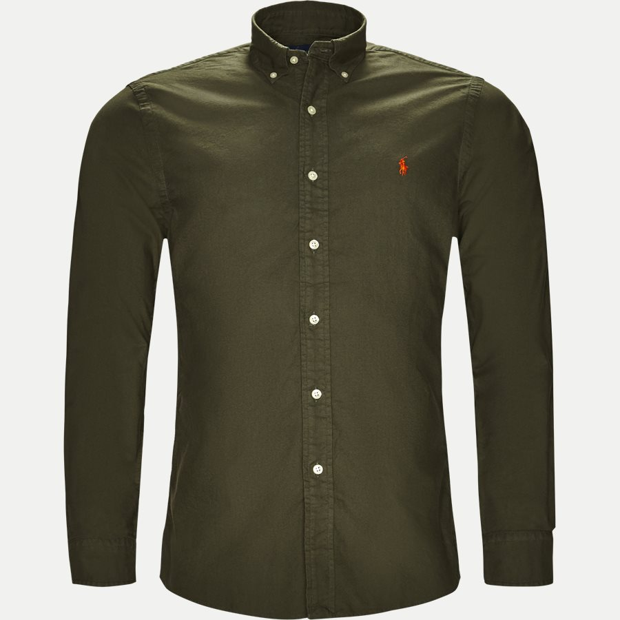 710736557. - Oxford Button-down Skjorte - Skjorter - Slim - OLIVEN - 1