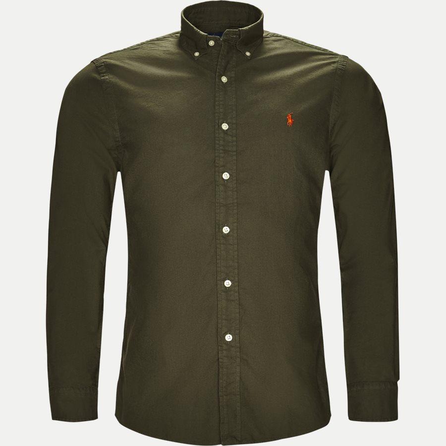 710736557. - Oxford Button-down Skjorte - Skjorter - Slim - OLIVEN - 1