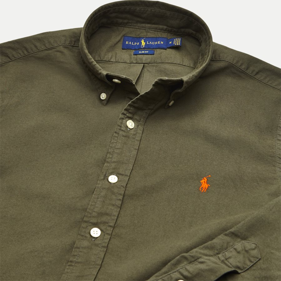 710736557. - Oxford Button-down Skjorte - Skjorter - Slim - OLIVEN - 3