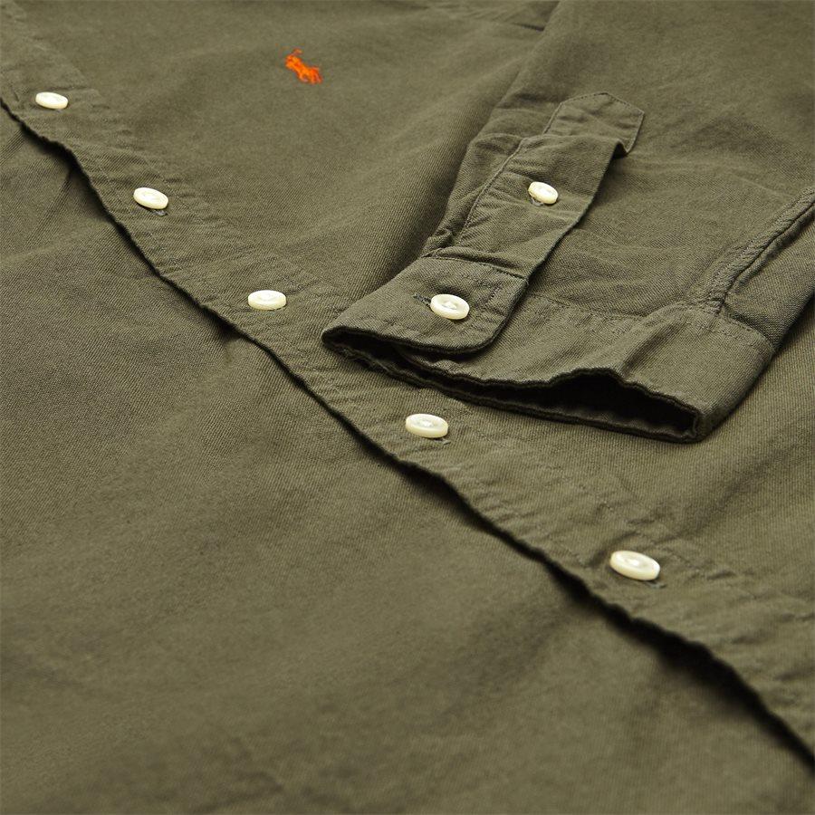 710736557. - Oxford Button-down Skjorte - Skjorter - Slim - OLIVEN - 4