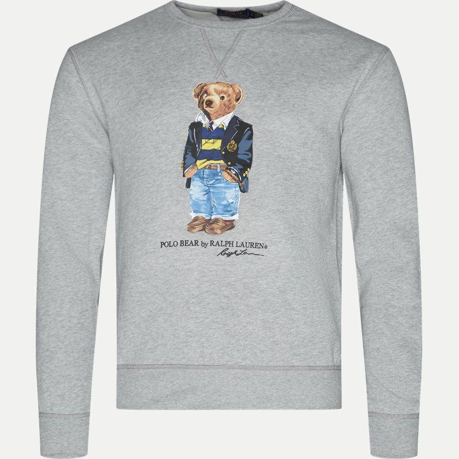 710740337 - Bear Fleece Sweatshirt - Sweatshirts - Regular - GRÅ - 1