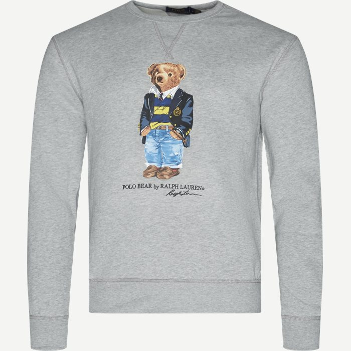 Bear Fleece Sweatshirt - Sweatshirts - Regular - Grå