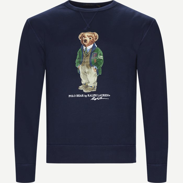 Bear Fleece Sweatshirt - Sweatshirts - Regular - Blå