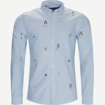 Cricket Bear Oxford Shirt Regular | Cricket Bear Oxford Shirt | Blå