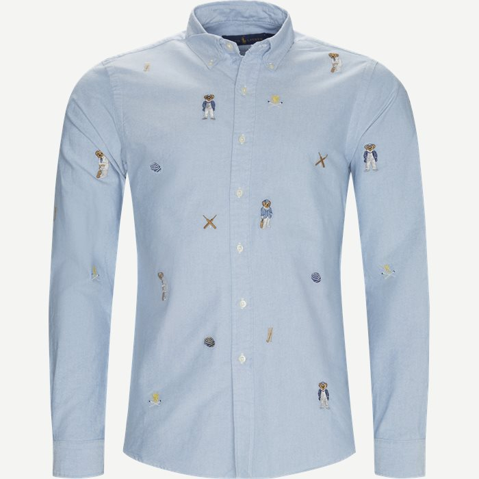 Cricket Bear Oxford Shirt - Skjorter - Regular - Blå