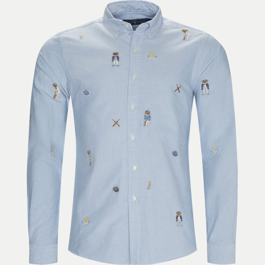 710731731 - Cricket Bear Oxford Shirt - Skjorter - Regular - LYSBLÅ - 1