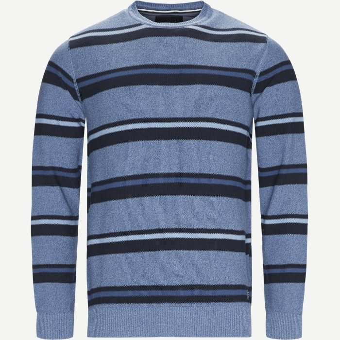 Heine Stripe Knit - Strik - Regular - Blå