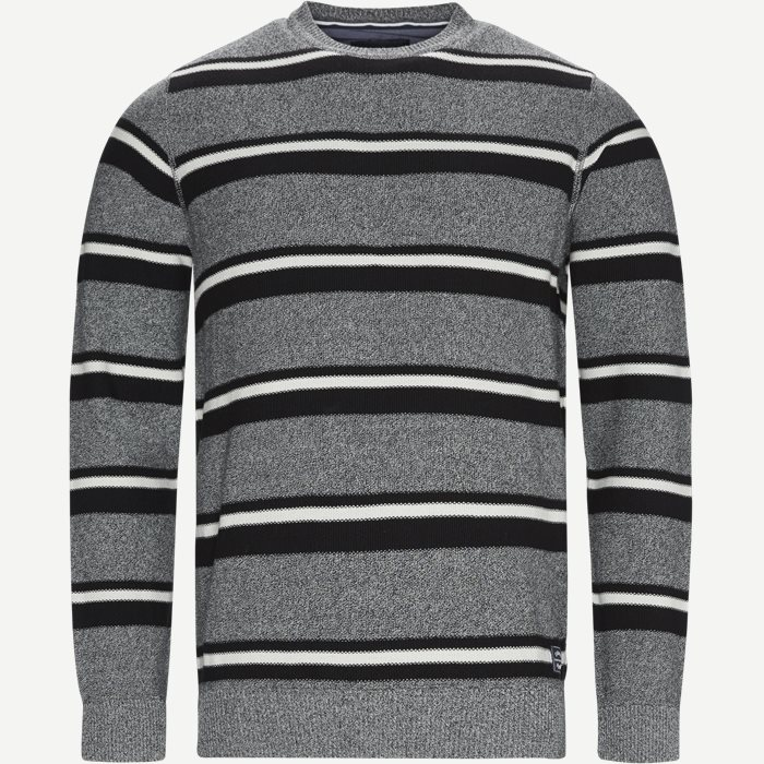 Heine Stripe Knit - Strik - Regular - Grå