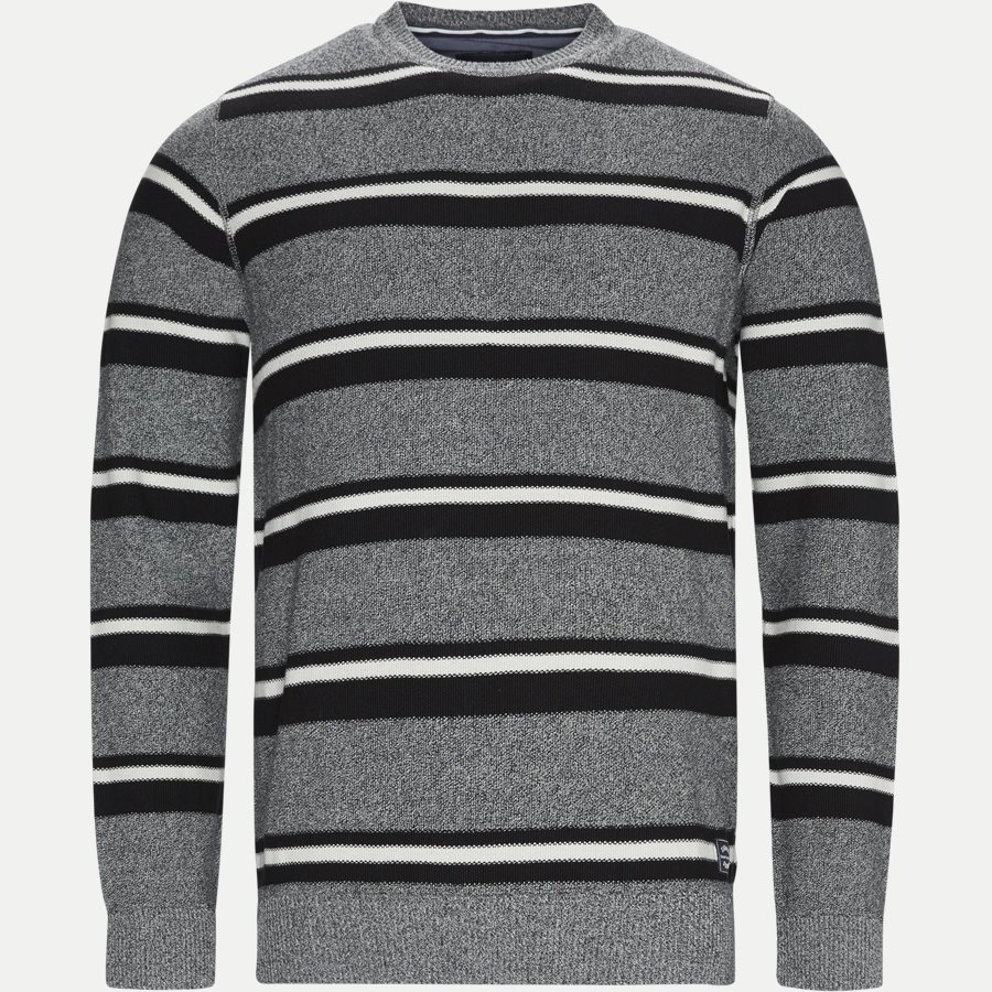 12251 1170 - Heine Stripe Knit - Strik - Regular - GRÅ - 1
