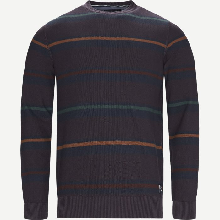 Heine Stripe Knit - Strik - Regular - Blå